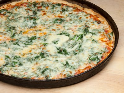 Pizza Thin Crust Spinach